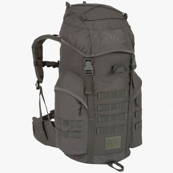 side view of daysack in grey