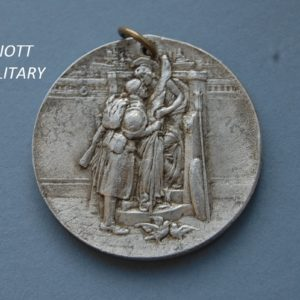 obverse of peace medal with soldier