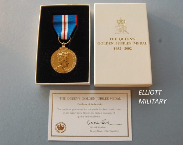 golden jubilee medal and box