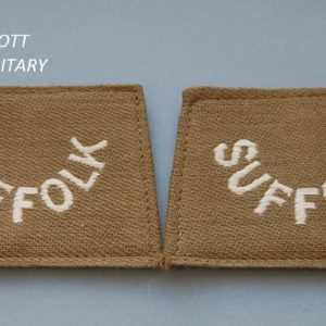 Pair of cloth shoulder titles