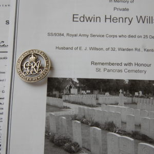 silver pin badge for WW1 invalided out of service