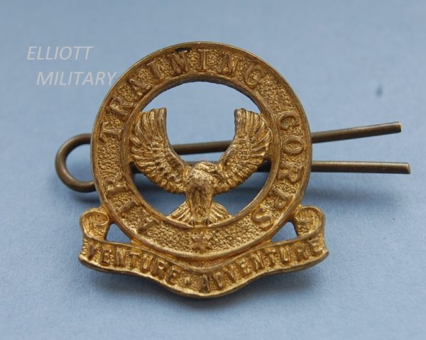 badge with flying bird within a circle above a scroll