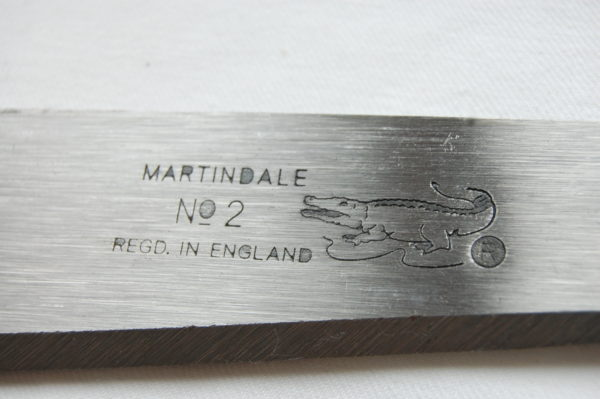 machete blade showing makers marks