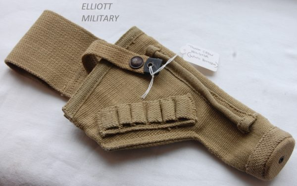 Webbing pistol holster with open top