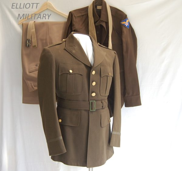 jacket, trousers, belt and tie of the USAAF officer