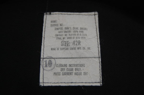 jumper showing the label under the collar