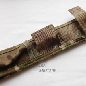 pouch for fitting the bayonet scabbard to the belt
