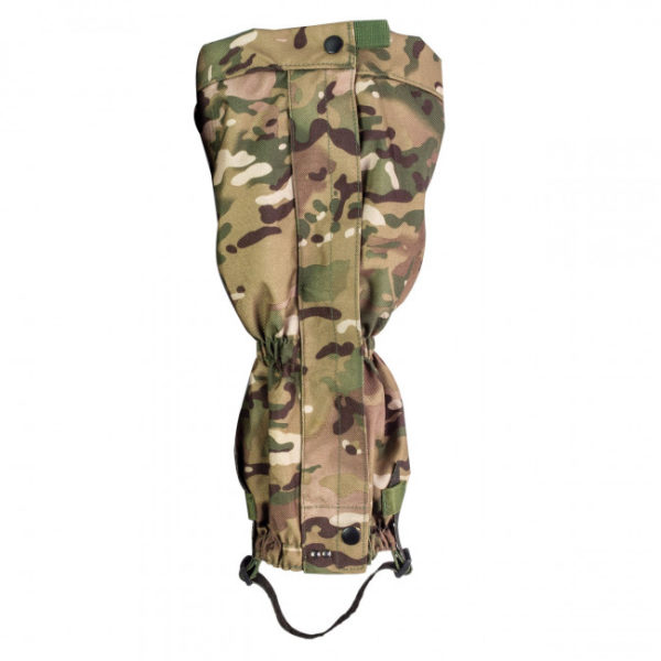 gaiter in multi terrain pattern