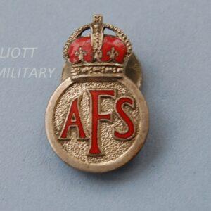 badge with letters AFS within a circle below a crown