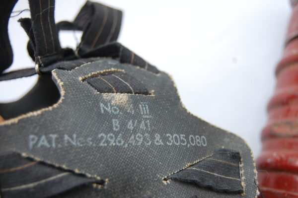 markings on head strap assembly
