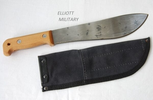 machete and sheath