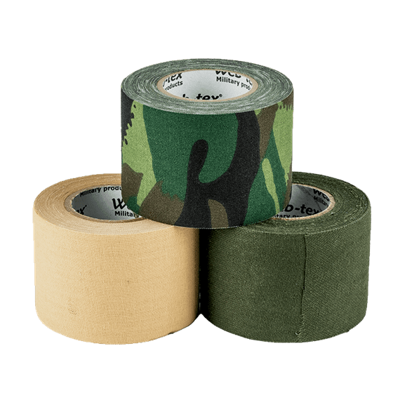 THREE COLOURS OF ADHESIVE TAPE