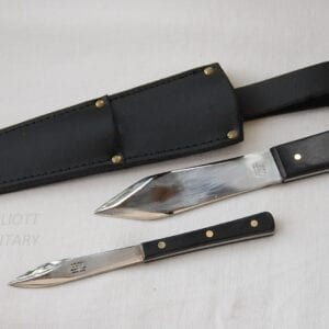 two throwing knives with sheath