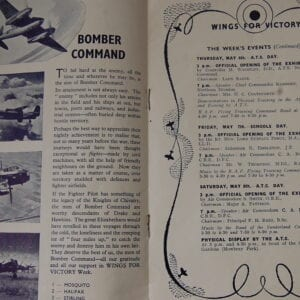 paper programme showing photos of aircraft and text