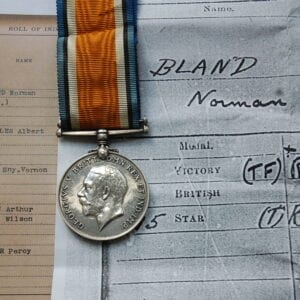 war medal with head of King George the 5th