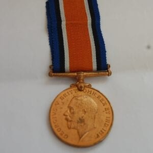 WW1 British War Medal with King George the fifth head in bronze