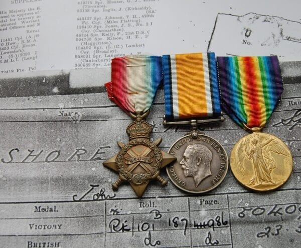 First World War trio of medals