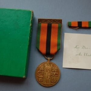 medal with box and certificate