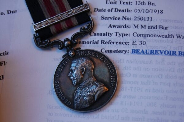 close up of Military Medal obverse