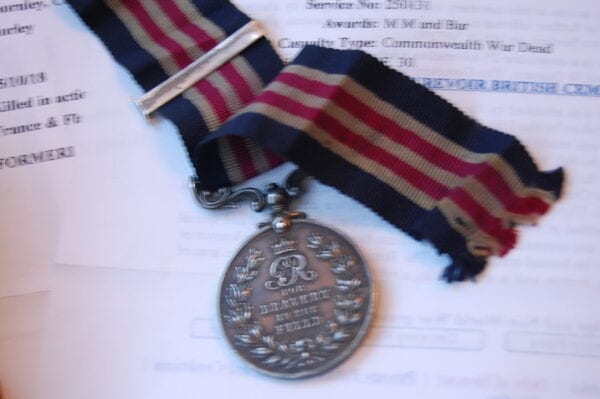 close up of Military Medal reverse