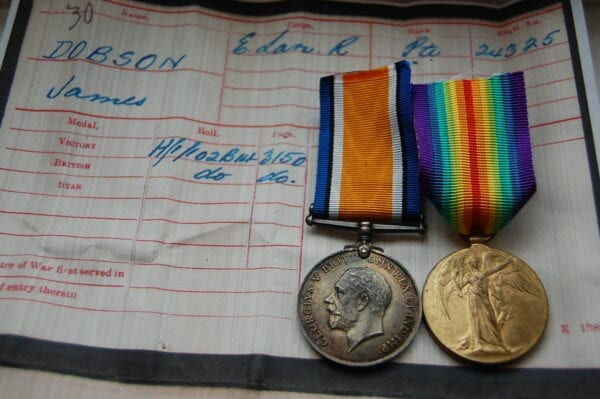 War and Victory medal obverse
